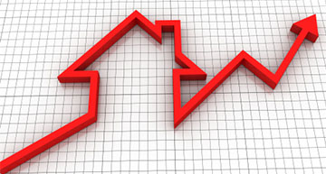 Line graph in the shape of a house | Market Analysis